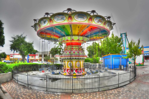 carnival mall chair ride florida circus carousel planes fl merrygoround hdr stripmall topaz d90 chairoplanes