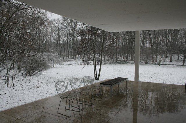 Farnsworth House - Mies - entry