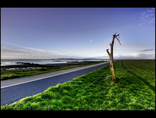 world road morning travel blue ireland light sea irish moon tree green galway beautiful beauty grass clouds composition contrast landscape photography photo amazing interesting nikon europe exposure view shot image feel journey promenade handheld lonely mm charming nikkor capture lunar learn hdr infinite vr lense discover sense peacefull 1635 kader abdelkader d700 lagraa klagraa
