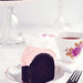 Dark Chocolate Chiffon Cake with Rosewater Frosting Slice