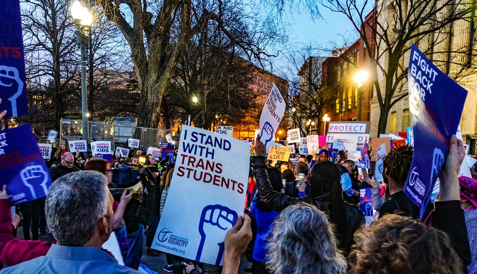 2017.02.22 ProtectTransKids Protest, Washington, DC USA 01092