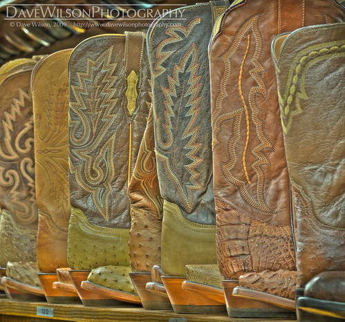 Why HDR Sucks - Tutorial Image - Cowboy Boots (hideous tone mapping)