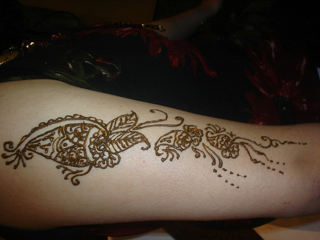 Henna On Upper Arm  Flickr  Photo Sharing