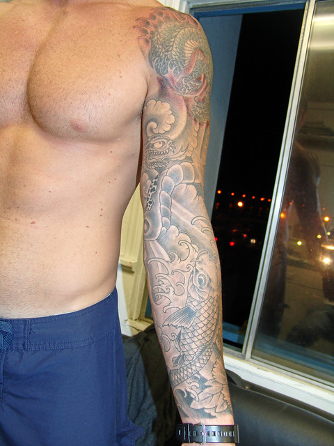 Damions sleeve tattoo flickr photo sharing for How to make a tattoo sleeve