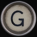 typewriter key letter G