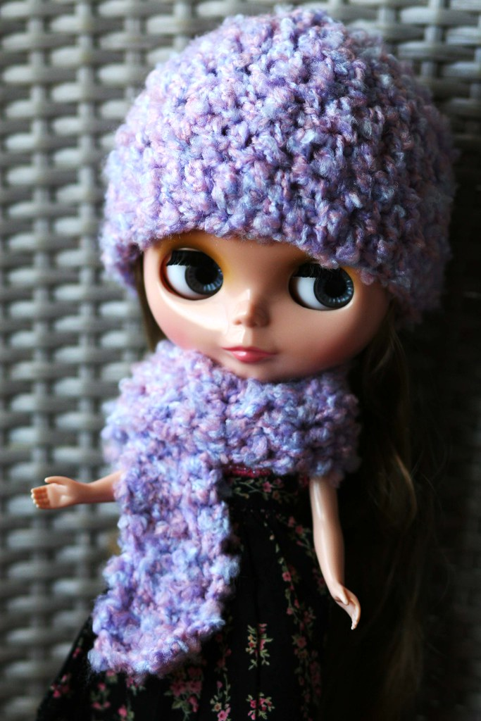 Fuzzy Hat and Scarf | Gosh I love this girl :) | Elisa | Flickr