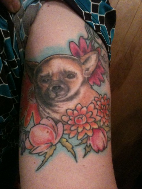 chihuahua tattoo celebrating man's best (and smallest) friend | Flickr