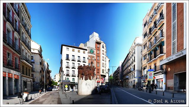 Madrid. Monumento a los abogados de Atocha asesinados.