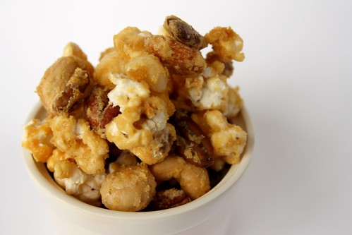 Nutty and Nice Crunchy Ginger Caramel Corn