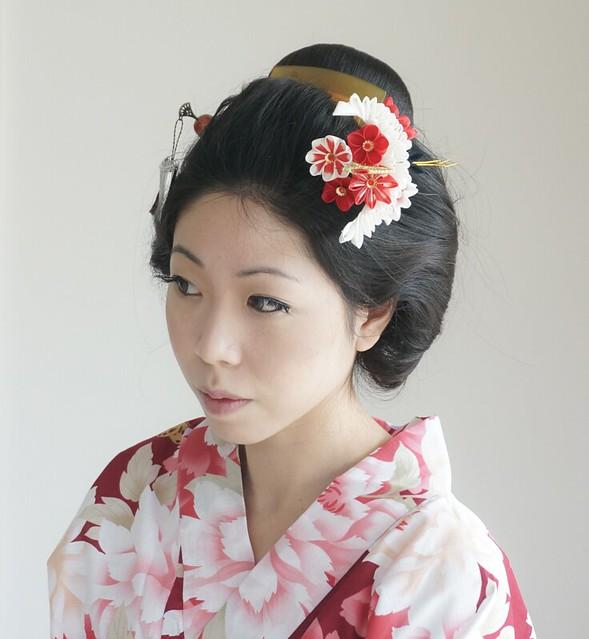 Tsuru (Crane) Tsumami Kanzashi Hair Ornament