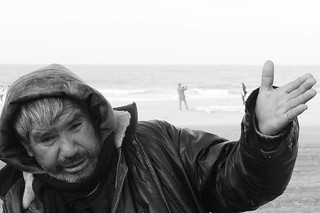 Image of  Playa Bristol  near  Mar del Plata. beach argentina drunk amigo model friend afternoon dancing candid playa modelo teacher master maestro baile tarde mardelplata borracho sincero ©ignaciosanz