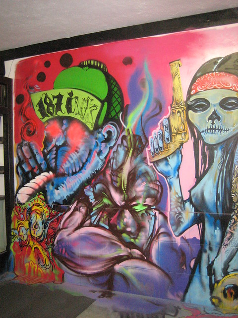 187 ink tattoo shop mural flickr photo sharing for Mural tattoo