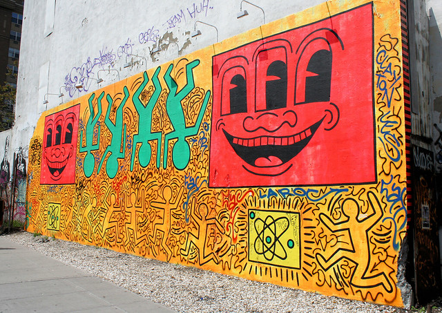 keith haring s mural flickr photo