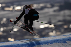 ski equipment, jumping, winter sport, freestyle skiing, nordic combined, winter, ski, skiing, sports, recreation, snow, outdoor recreation, extreme sport, slalom skiing, cross-country skiing, blue, downhill,