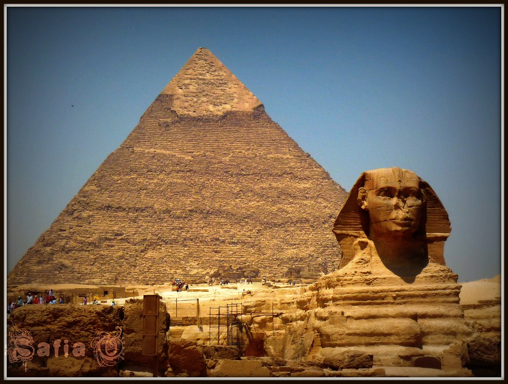 The Sphinx and the Pyramid of Kephren