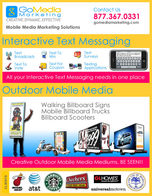 Go Media Marketing One Pager of Services