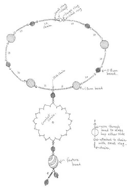 un jard u00edn de hilo  sun necklace pattern