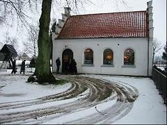 Ingelstrup Kapel set fra syd om vinteren