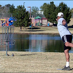 Chauncey Donaldson putting at the 2002 Memorial in Scottsdale, Arizona.