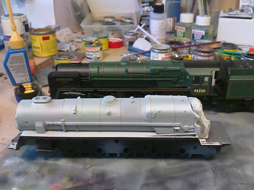 hornby evening star and dapol 9f