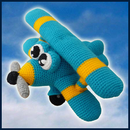 Crocheting On A Plane : Ace, The Airplane - Amigurumi Pattern by DeliciousCrochet - a photo on ...