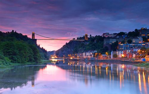 bridge sunset bristol avon clifton cliftonsuspensionbridge ptgui vob abigfave platinumphoto