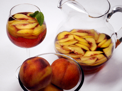 Peach Sangria Display