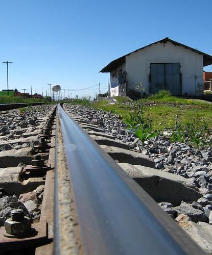 Vias del tren en Huamantla