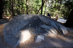 baby bouldering on the way back from mirror lake    …