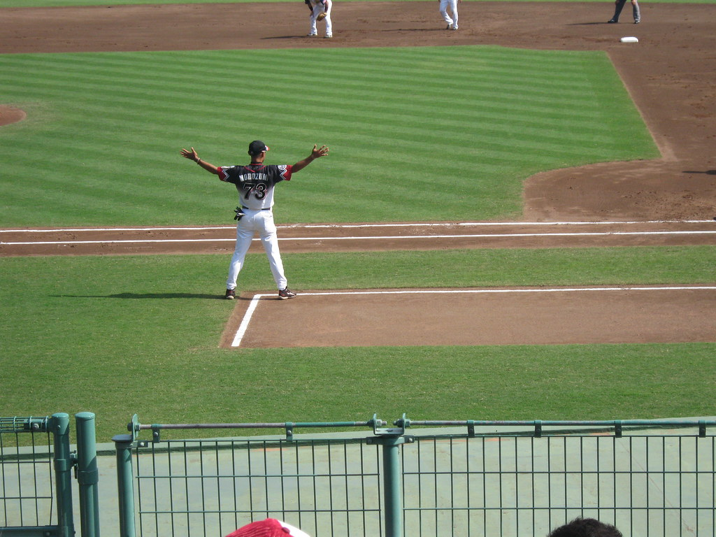 Spirit Fingers! Chiba Lotte Marines at Orix Buffaloes 9 Sept 2009