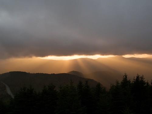 statepark sunset nc summit mountmitchellstatepark
