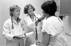 Low Thyroid Doctors with patient, 1999