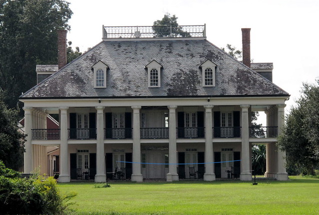 36 Antebellum Plantation Home Closeup Near White Castle La