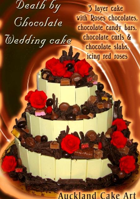 SUPER DEATH BY CHOCOLATE RICH WEDDING CAKE
