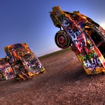 HDR - The Cadillac Ranch in Amarillo, Texas