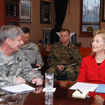 Secretary of State, Hillary Rodham Clinton visits United States Army Garrison (USAG) Yongsan, Seoul, South Korea - 20 Feb. 2009