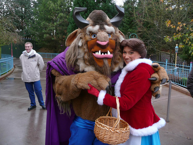 Meeting Christmas Belle and Beast
