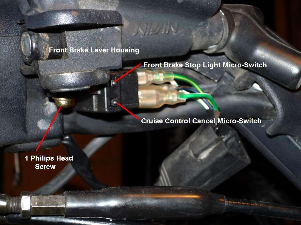 Front Brake Cruise Control cancel micro switch failed