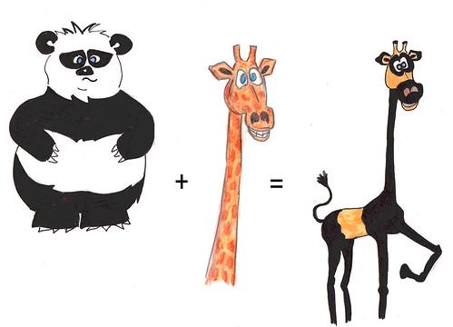 Animal Math: Panda + Giraffe by nothinglikeit