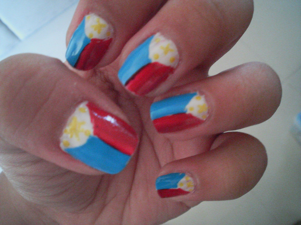 Nail Art Design Philippine Flag A Photo On Flickriver
