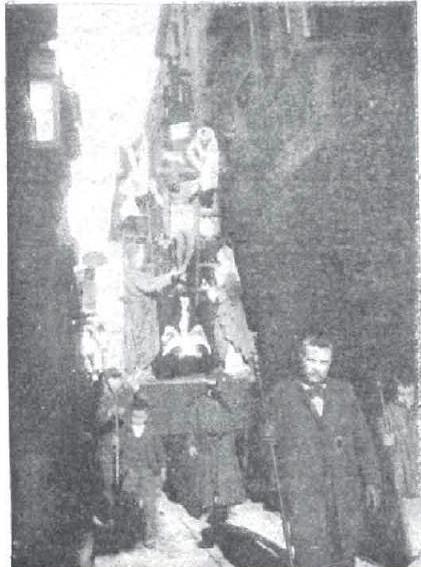 Paso del Descendimiento en la Semana Santa de Toledo de 1897