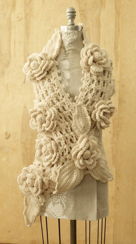 Free Crochet Pattern Irish Lace Scarf  Flickr  Photo Sharing Crochet Children's Scarf Patterns Free