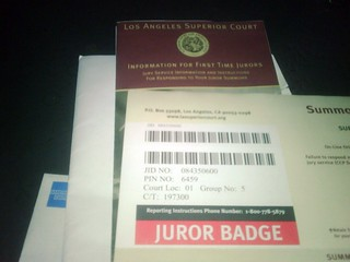 D'oh! My first jury summons after 4 years as an LA resident