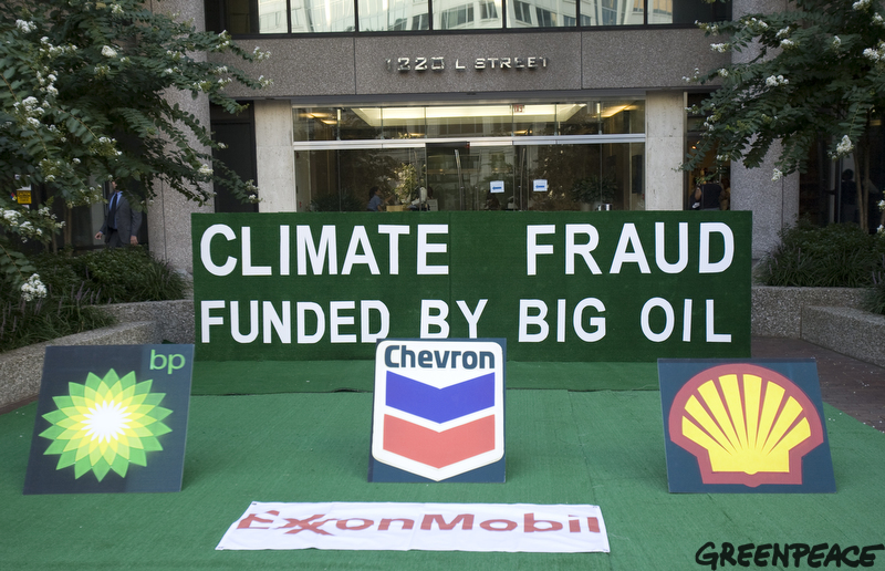 Greenpeace - Astroturf climate fraud funded by Big Oil, American Petroleum Institute Energy Citizens