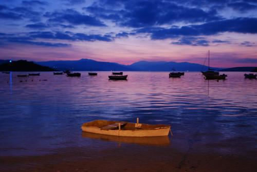 morning slr sunrise landscape islands bay boat nikon purple calm greece lonely dslr docked tolo d80 nikond80