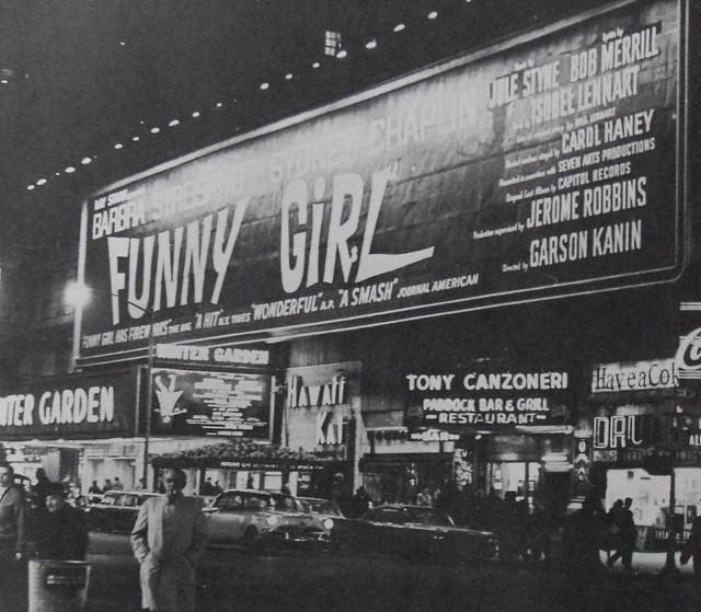 Times Square 1968 Winter Garden Theatre Funny Girl Billboard Vintage New York City Flickr