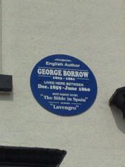 Photo of George Borrow blue plaque