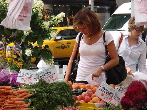 Hoda Kotb at the Rock Center Greenmarket