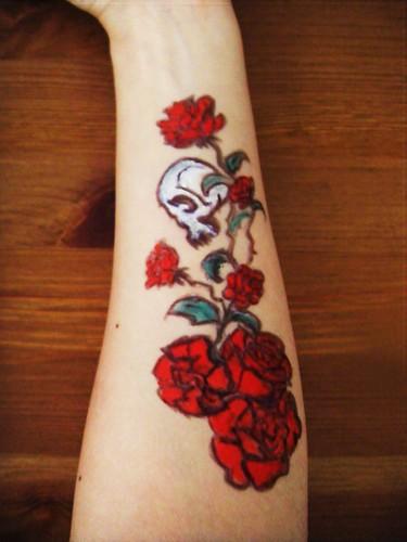 goods brief skull rose tattoo. Black Bedroom Furniture Sets. Home Design Ideas