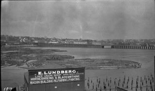 Log booms in Lake Union, 1911